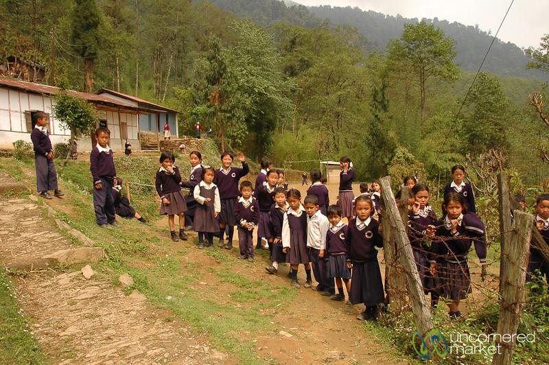 Saying Goodbye to Students - Sikkim