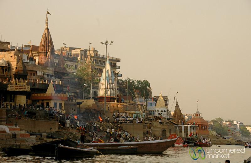 Dusk Along the Ganges River - Varanasi, India