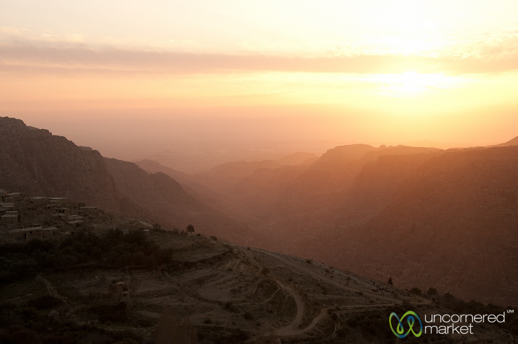 Sun Sets Over Dana Village - Jordan