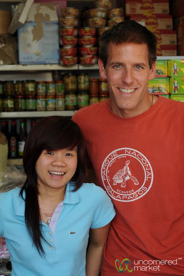 Dan and Our Favorite Vendor - Malesice Vietnamese Market, Prague