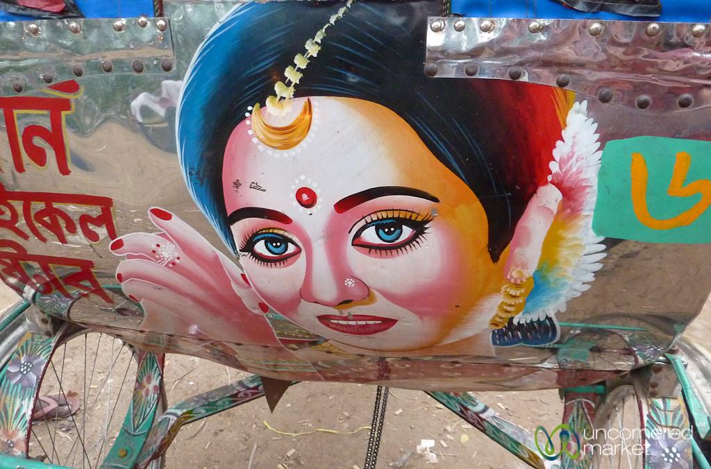 Bollywood Actresses as Rickshaw Art - Rajshahi, Bangladesh