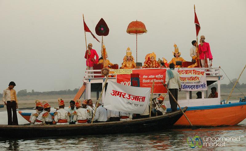 Evening Theatre Along the Ganges River - Varanasi, India