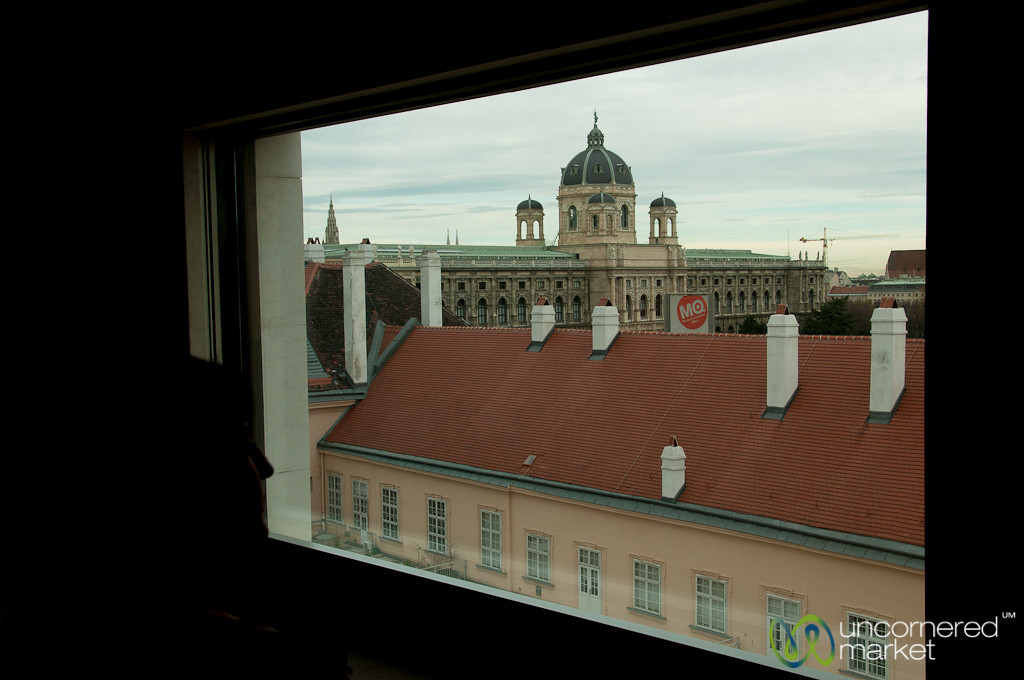 Looking Out from Leopold Museum - Vienna, Austria