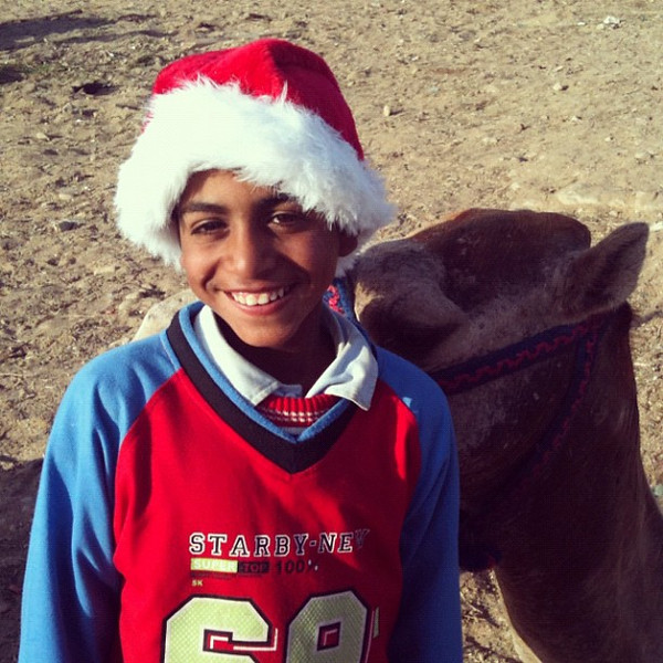 Christmas spirit at the Giza Pyramids in #Egypt