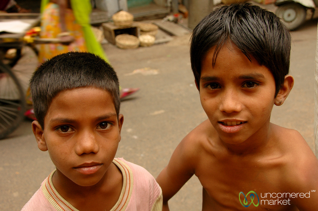 Kids at the Market - Udaipur, India
