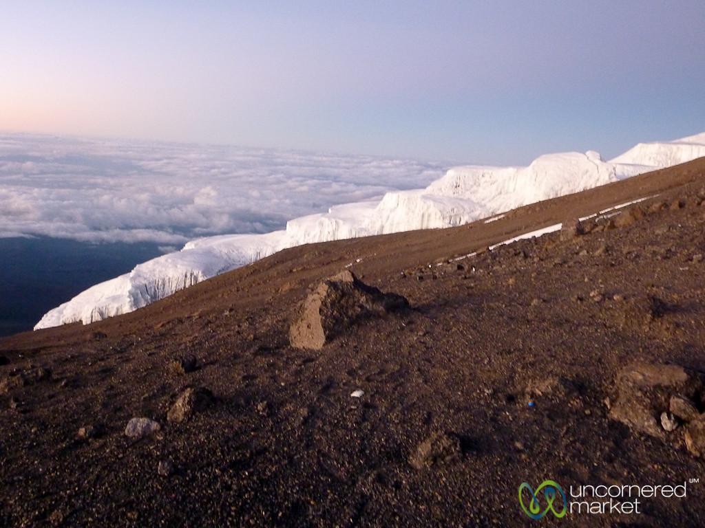 Glaciers at the Top of Mt. Kilimanjaro - Tanzania