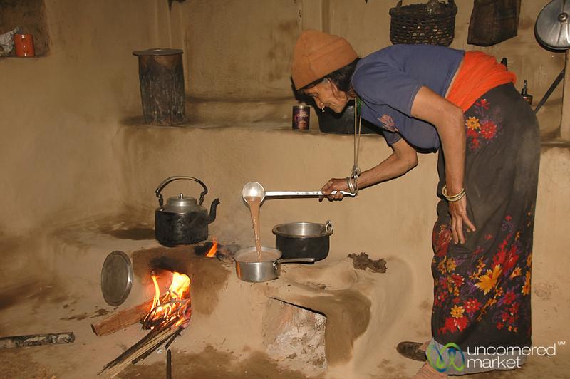 Making Us Tea in a Village in Sikkim