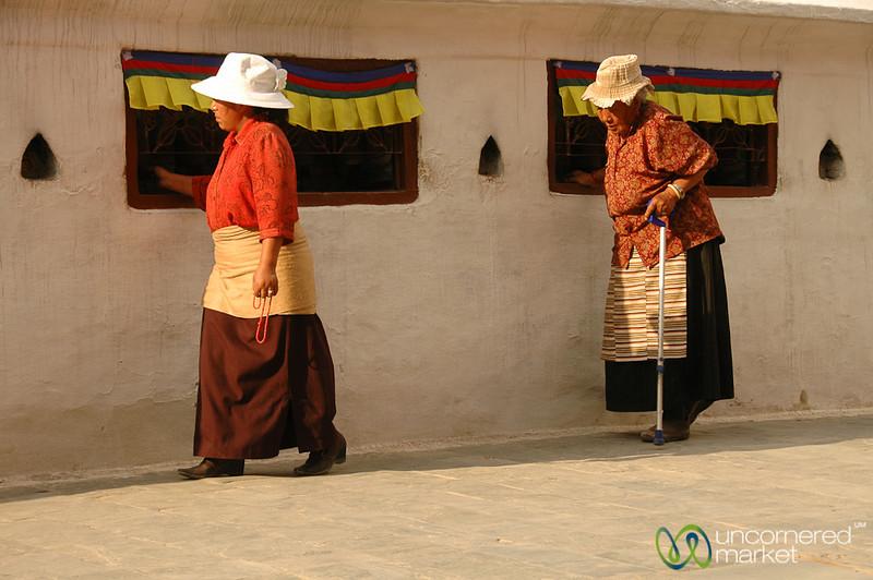 Turning the Prayer Wheels - Boudhanath, Nepal