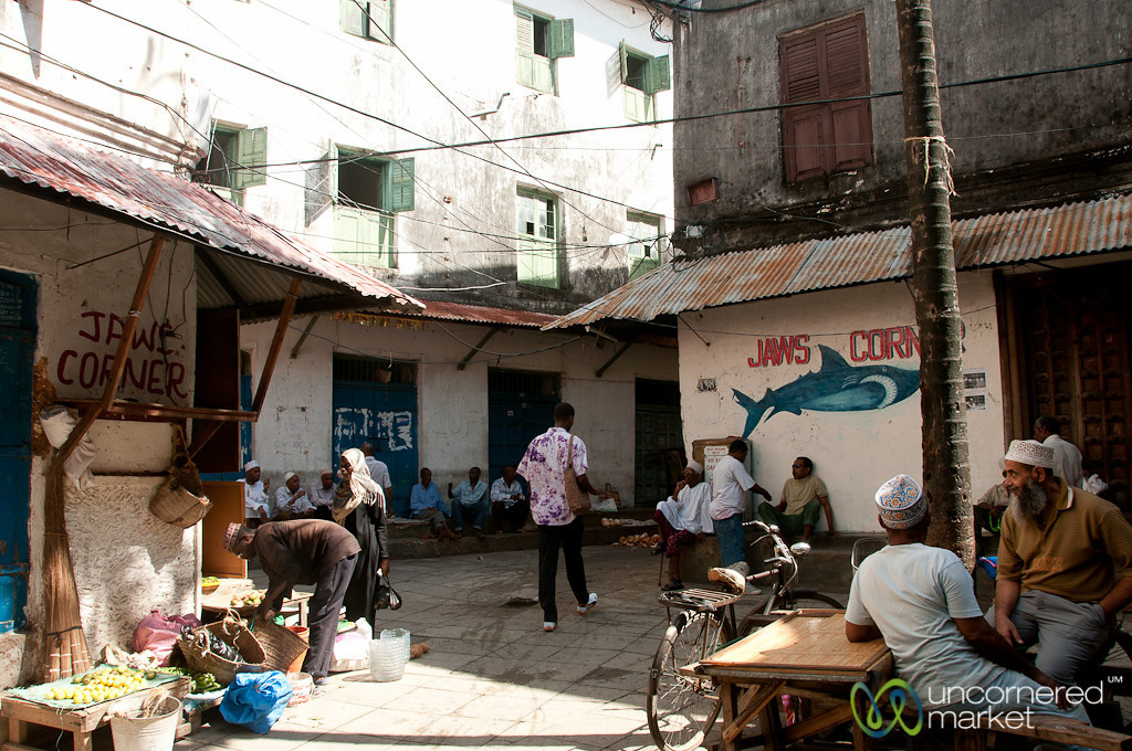 Jaws Corner People and Activity - Stone Town, Zanzibar