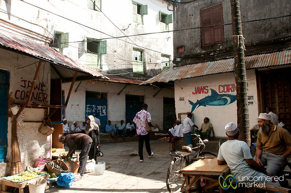 Jaws Corner People and Activity - Stone Town, Zanzibar