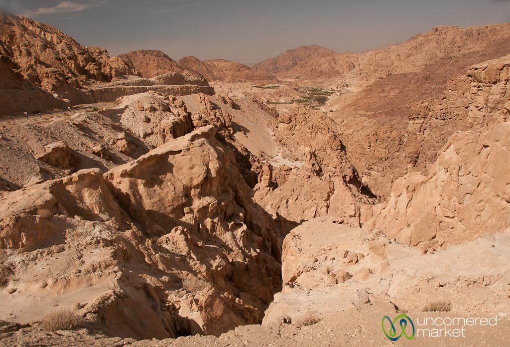 Red Rocks and Canyons on Way to Dana, Jordan