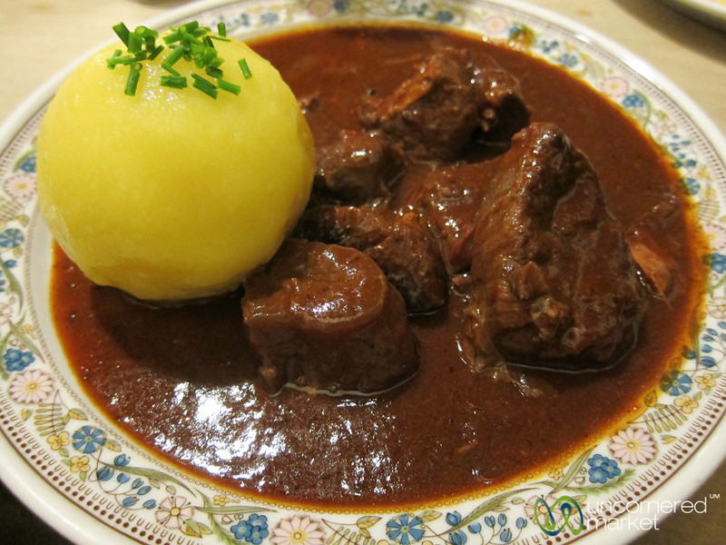 Goulash at Spezial Rauchbier - Bamberg, Germarny
