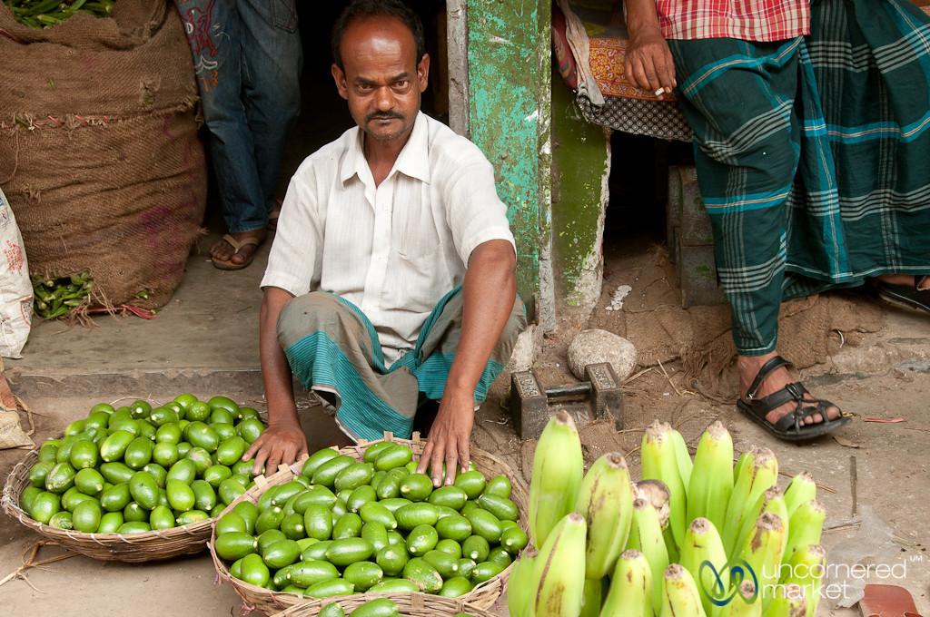 Vendor with Srimongal Limes - Bangladesh