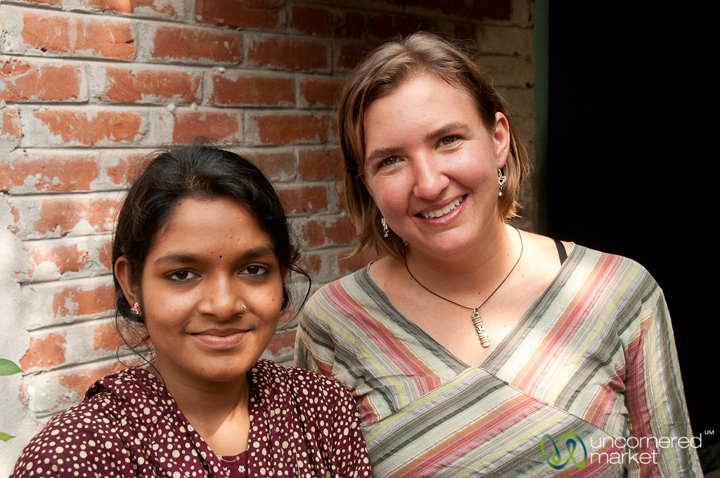 Audrey with Host Sister in Hatiandha, Bangladesh
