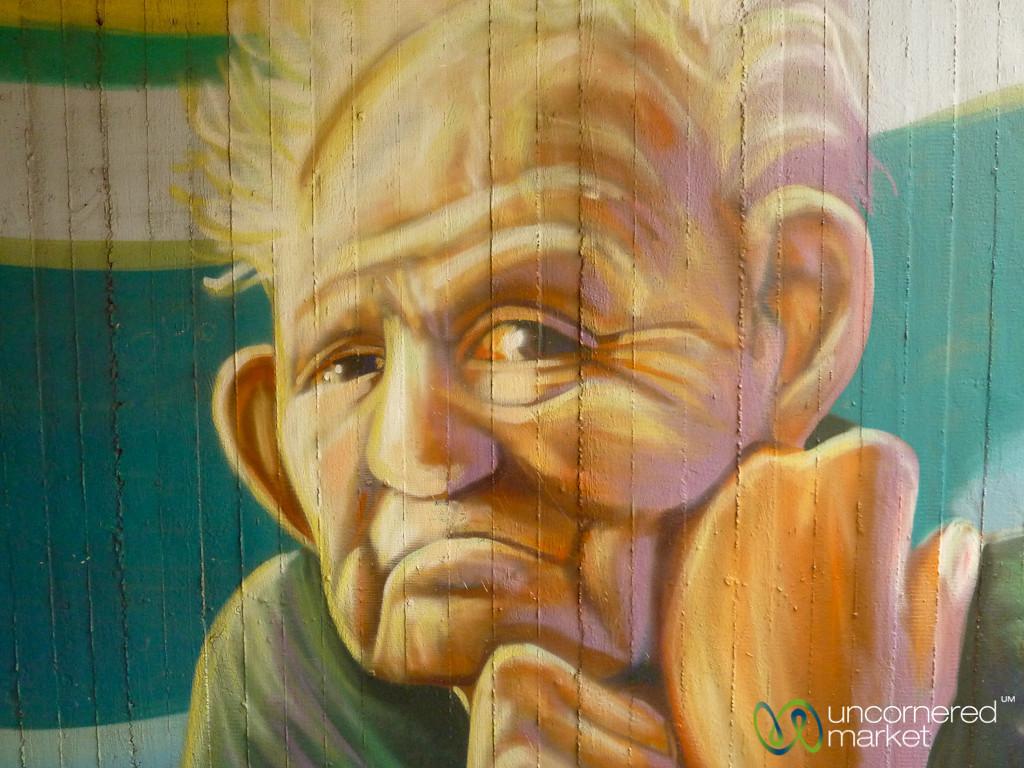 Old Man - Street Art in Berlin, Germany