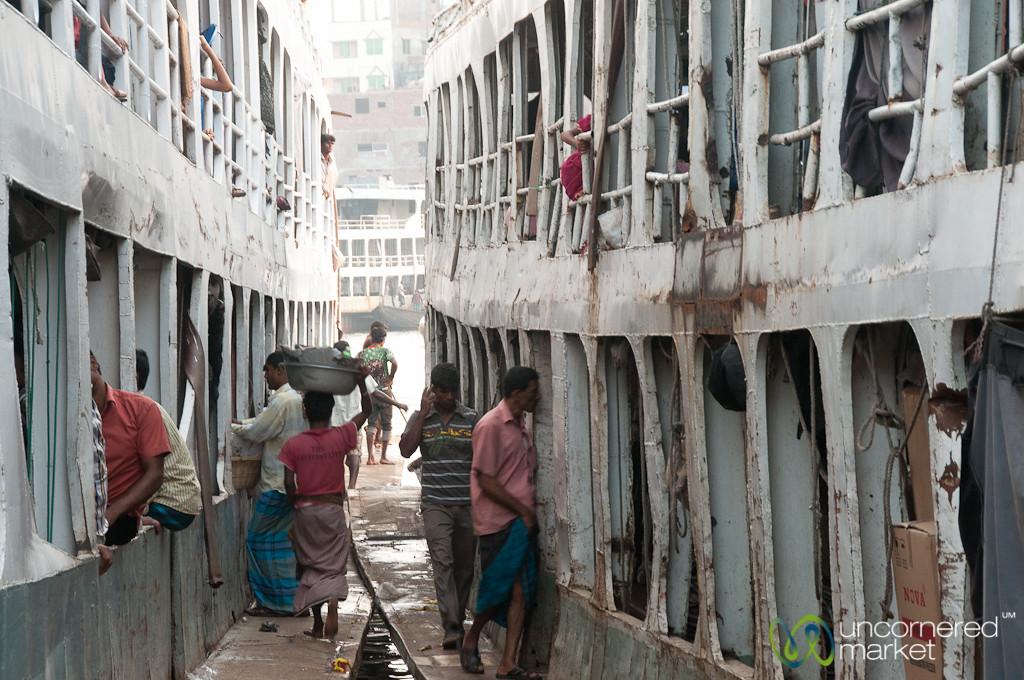 Old Passenger Boats at Sadarghat - Dhaka, Bangladesh