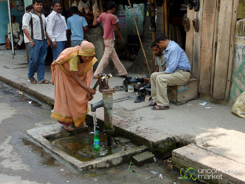 Water Pump on Streets of Khulna, Bangladesh