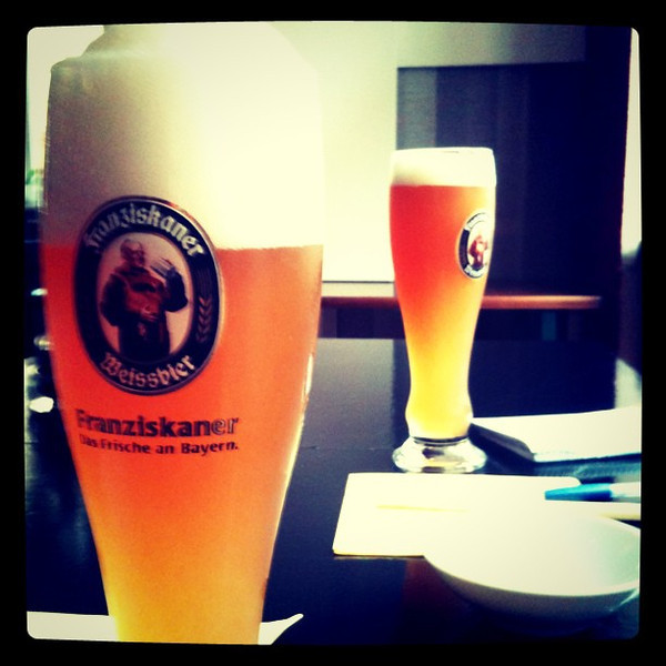 Weissbier to chase away a rainy day. #Berlin