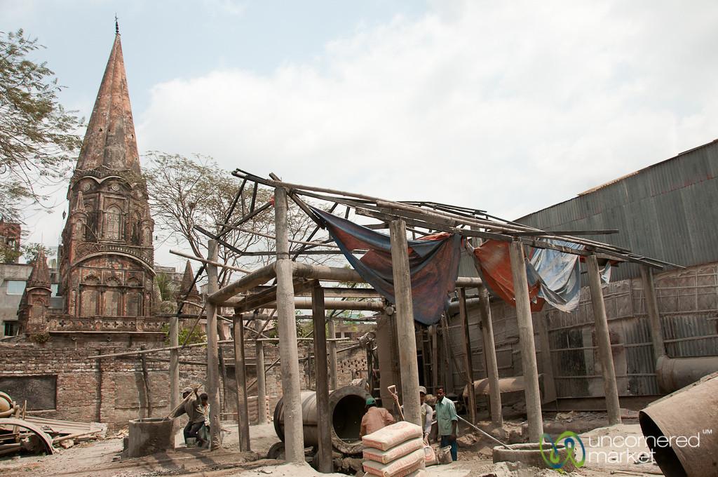Cement Making Next to the Hindu Temple - Old Dhaka, Bangladesh