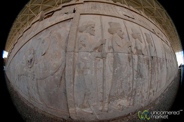 Apadana Palace, Fisheye View - Persepolis, Iran