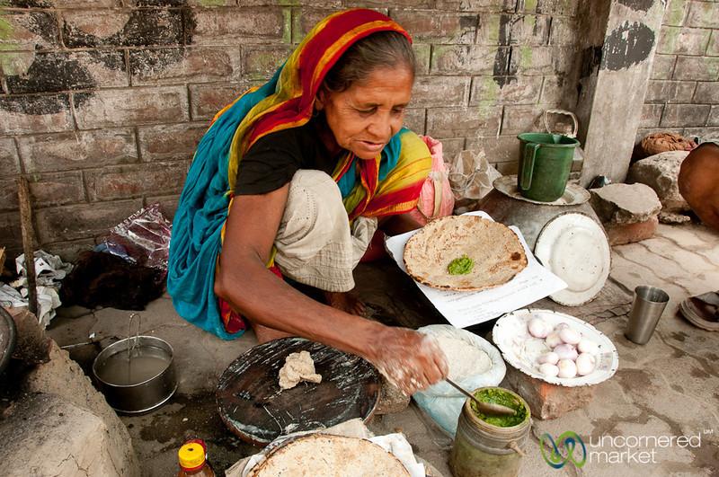 Kalai Roti with Chili Sauce - Rajshahi, Bangladesh