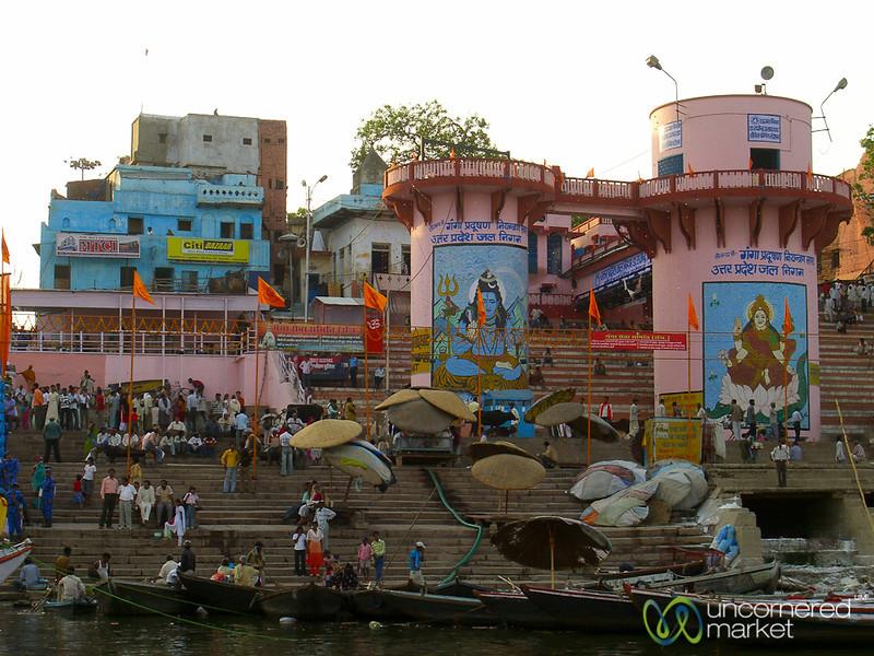 Floating Past the Ghats at Dusk - Varanasi, India