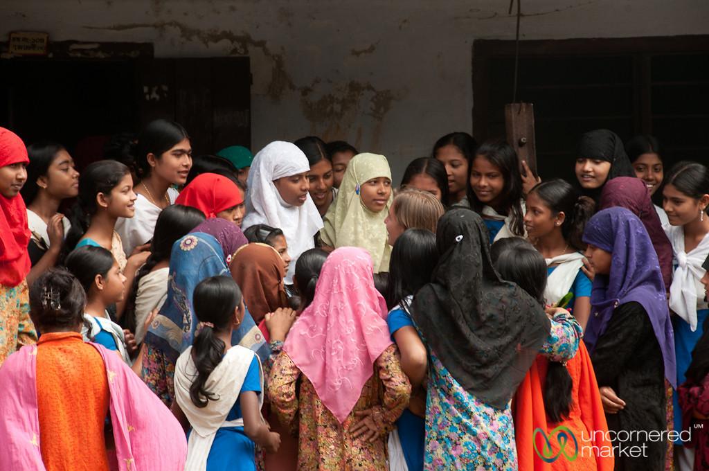 Audrey Answers Quetions at Rural School - Hatiandha, Bangladesh