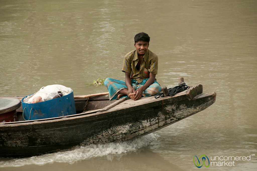 Young Man on a Boat - Bangladesh