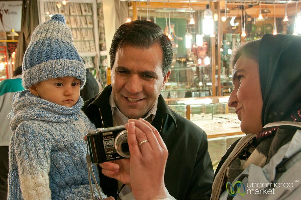 Iranian Family at Esfahan Market - Iran