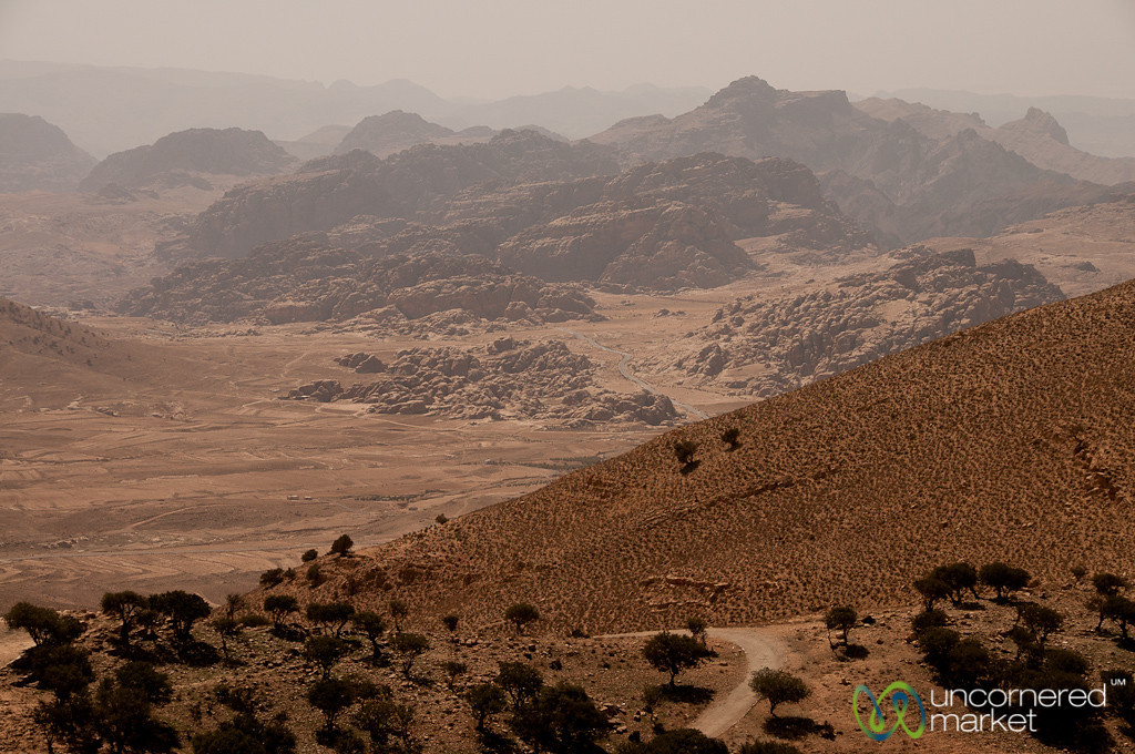 Looking Down to Wadi Araba - Jordan