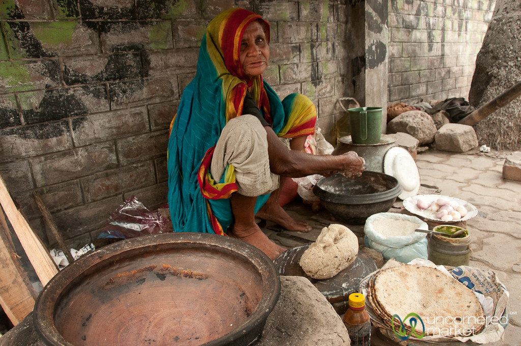 Kalai Roti Street Stand - Rajshahi, Bangladesh