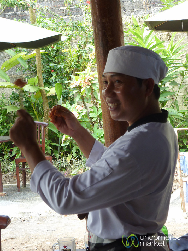 Chef Shows How to Make Sate Lilit - Bali, Indonesia