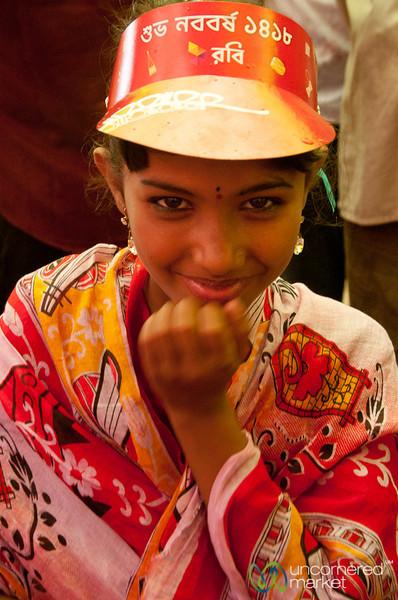 Girl Dressed Up for Bangla New Year - Rangamati, Bangladesh