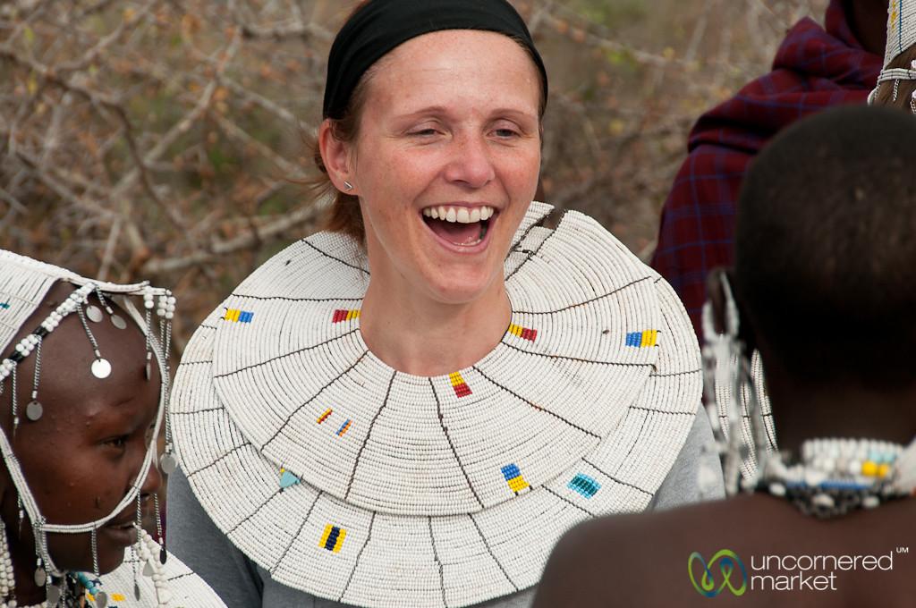 Traveler in Masai Beads - Lake Manyara, Tanzania