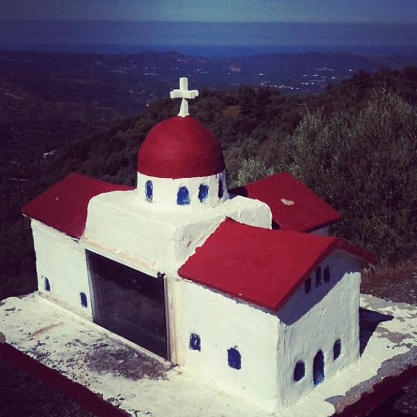 Roadside shrine with a view. #crete