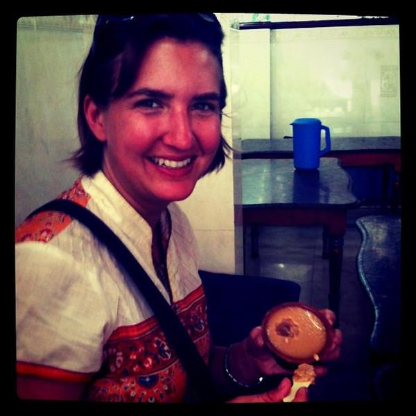 A little snack of Doi mishti (sweet curd) in Rajshahi, Bangladesh