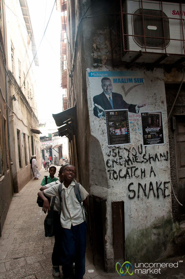 Kids and Graffiti - Stone Town, Zanzibar