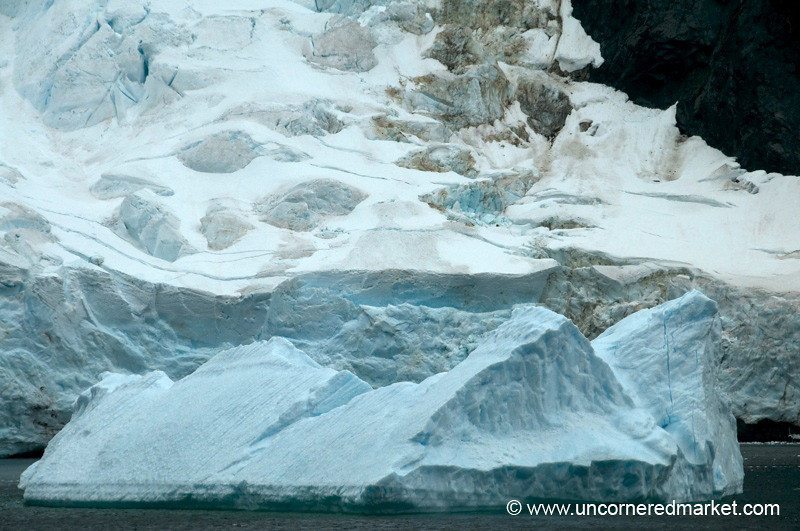 More Beautiful Blue of Icebergs - Antarctica