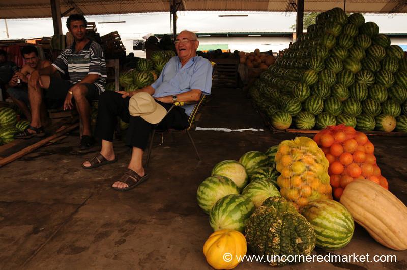 Paraguayan Vendors at Abasto