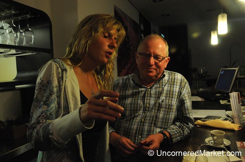 Explaining How to Make Ice Wine - Frickenhausen, Germany