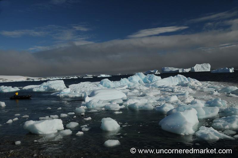 Zodiac Ride through the Ice - Antarctica