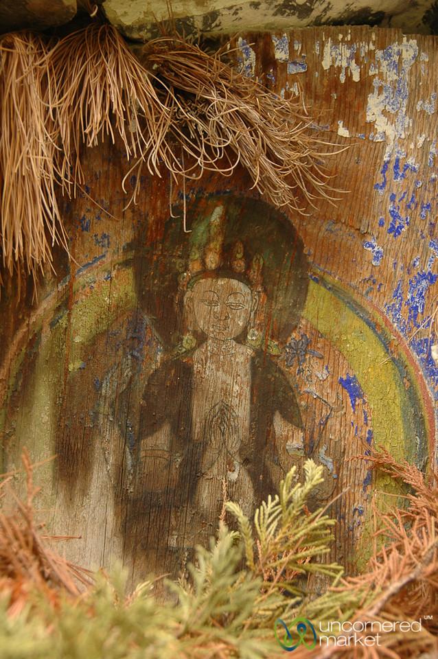 Fading Buddhist Painting - Annapurna Circuit, Nepal
