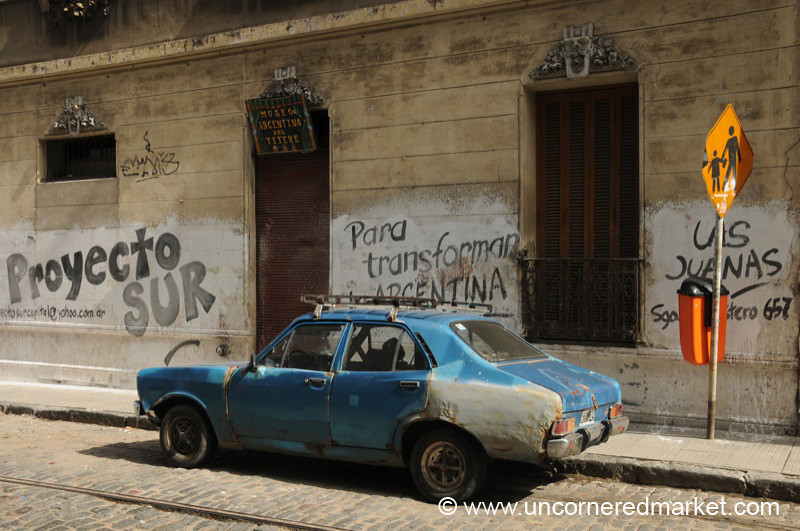 Old Cars and Graffiti - Buenos Aires, Argentina