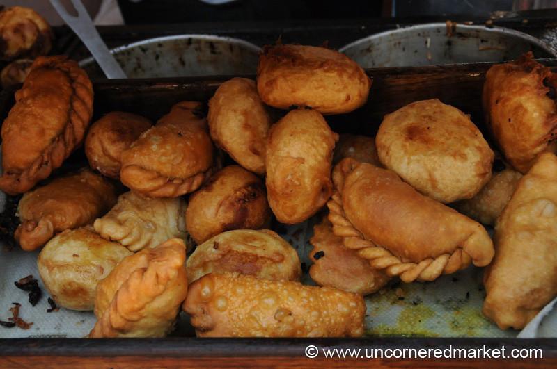 Tucumanas and Fried Empanadas - Tupiza, Bolivia