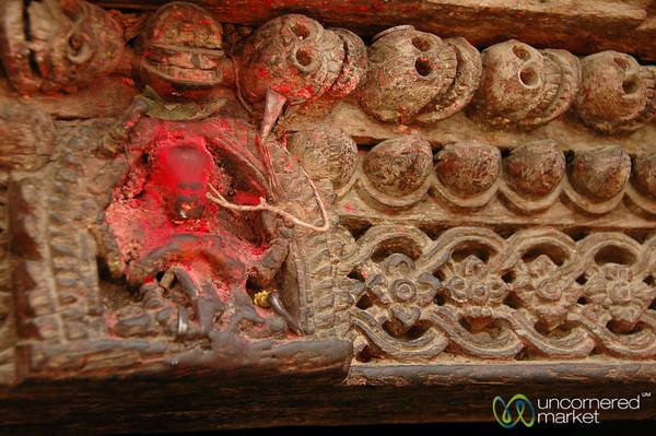 Skulls and Religious Engravings - Kathmandu, Nepal