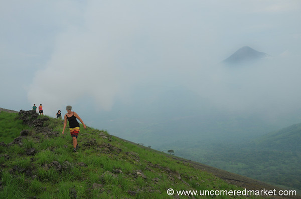 At Top of El Hoyo Volcano, Nicaragua