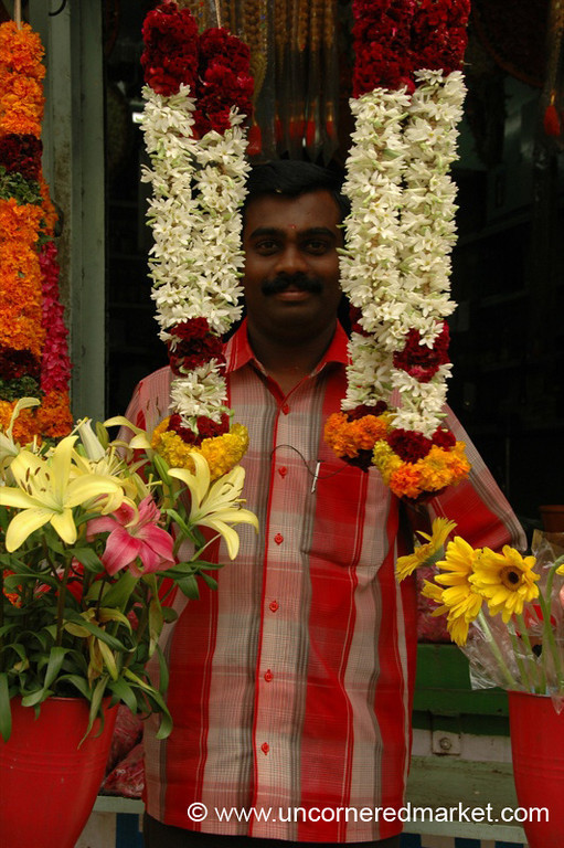 Catching a Smile in the Garlands - Kollam, India