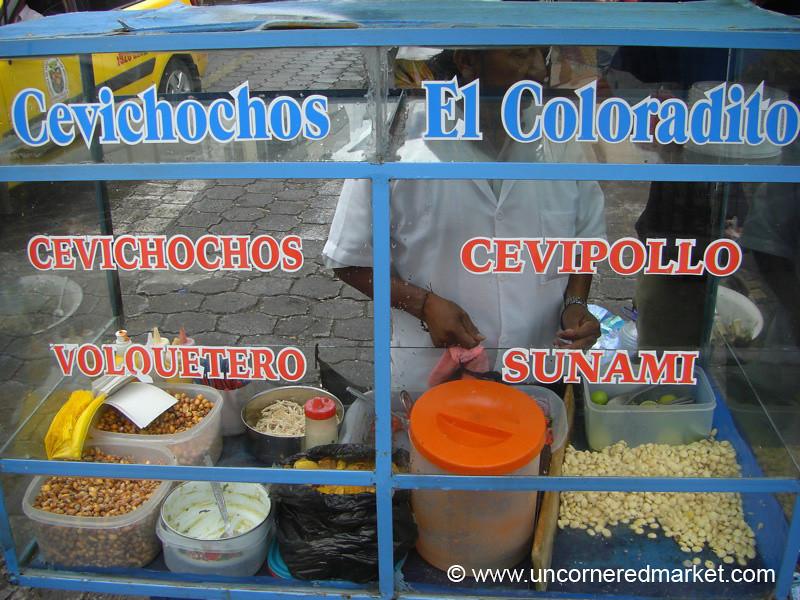 Streetside Cevichochos - Otavalo, Ecuador