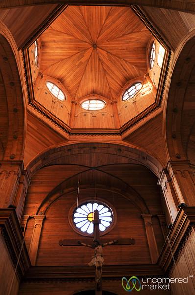Interior of San Francisco Cathedral - Castro, Chile