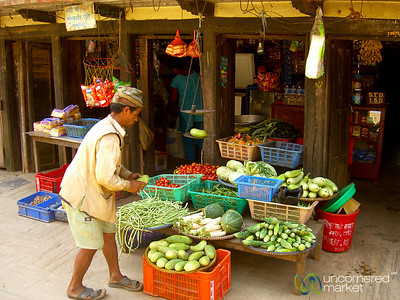 Vegetable Street Stand - Bandipur, Nepal
